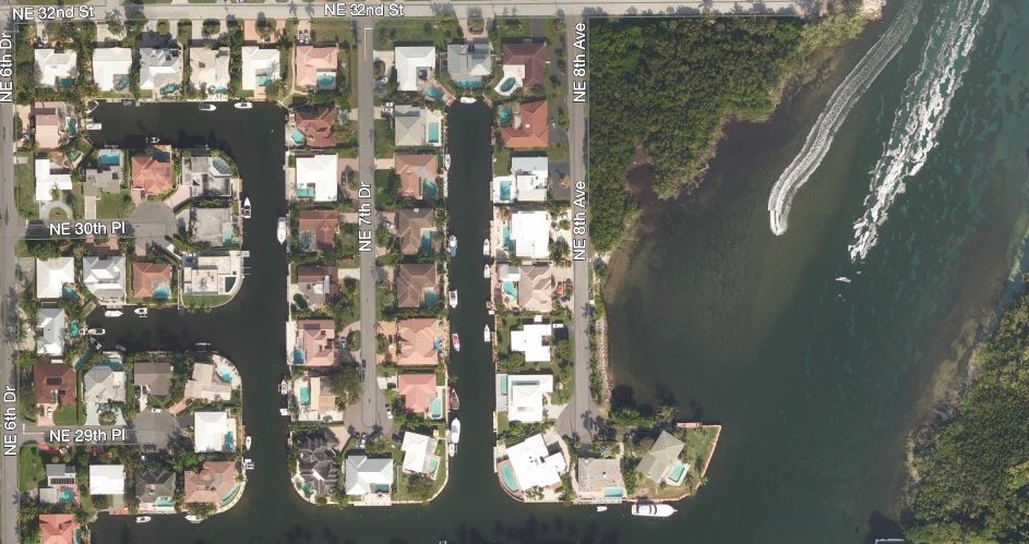 Blue Inlet Aerial Map View