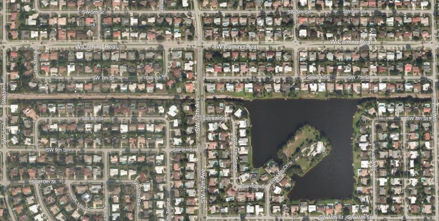 Aerial View of Boca Raton Square Neighborhood