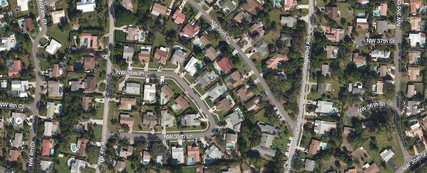 Boca Raton Hills Aerial Map View