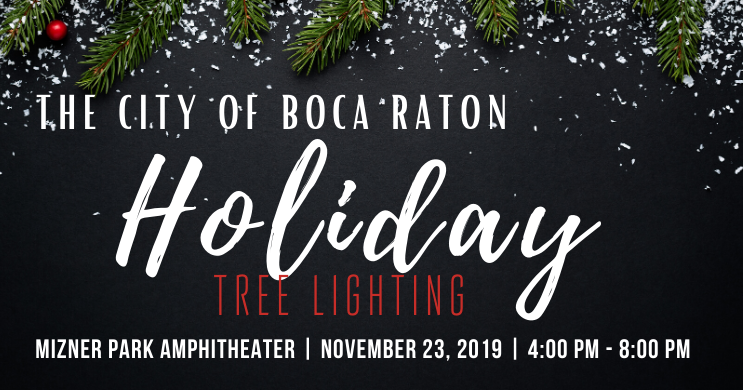 The City of Boca Raton Christmas Tree Lighting 2019