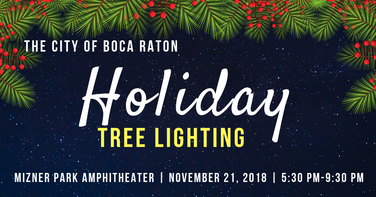 The City of Boca Raton Holiday Tree Lighting
