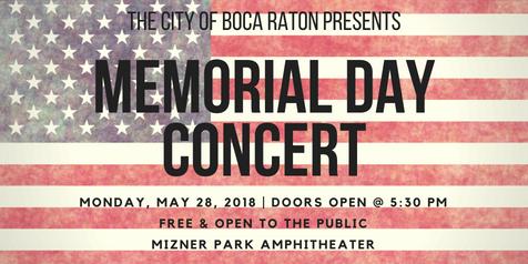 Memorial Day Concert at Mizner Park Amphitheater in Downtown Boca Raton