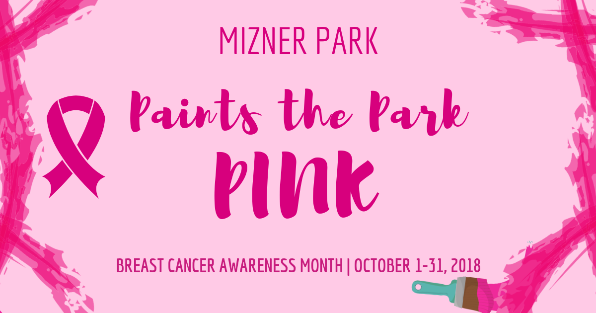 Mizner Park Paints the Park Pink
