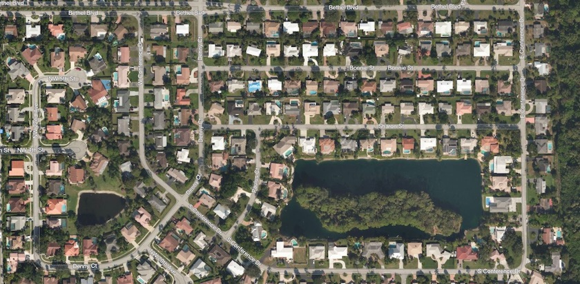 Aerial View of Paradise Palms Community in Boca Raton, FL