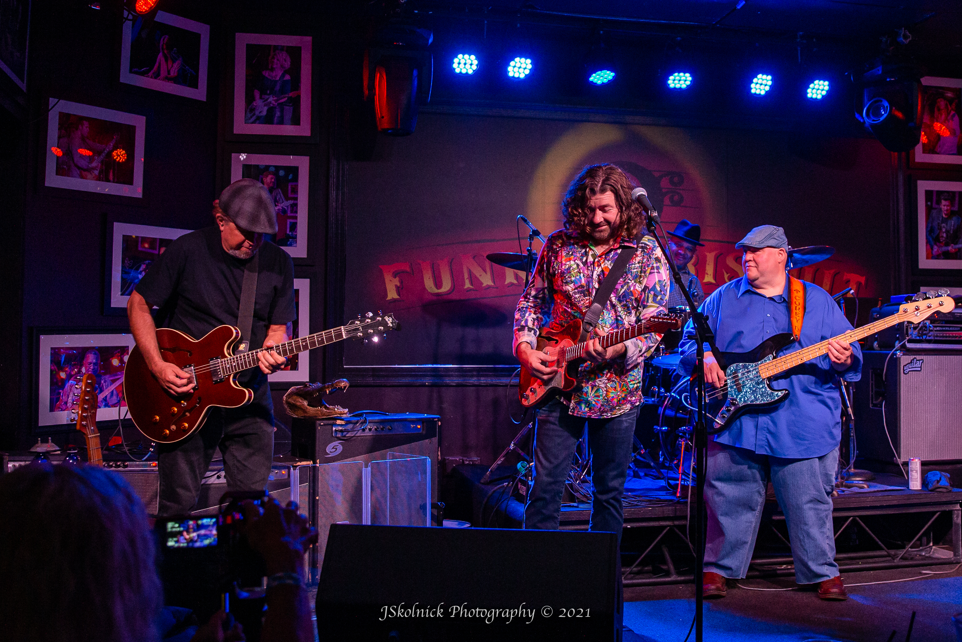 tab benoit playing at the funky biscuit