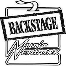 backstage music network | black and white logo