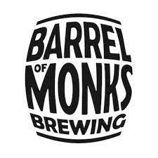 barrel of monks brewery logo | black letters