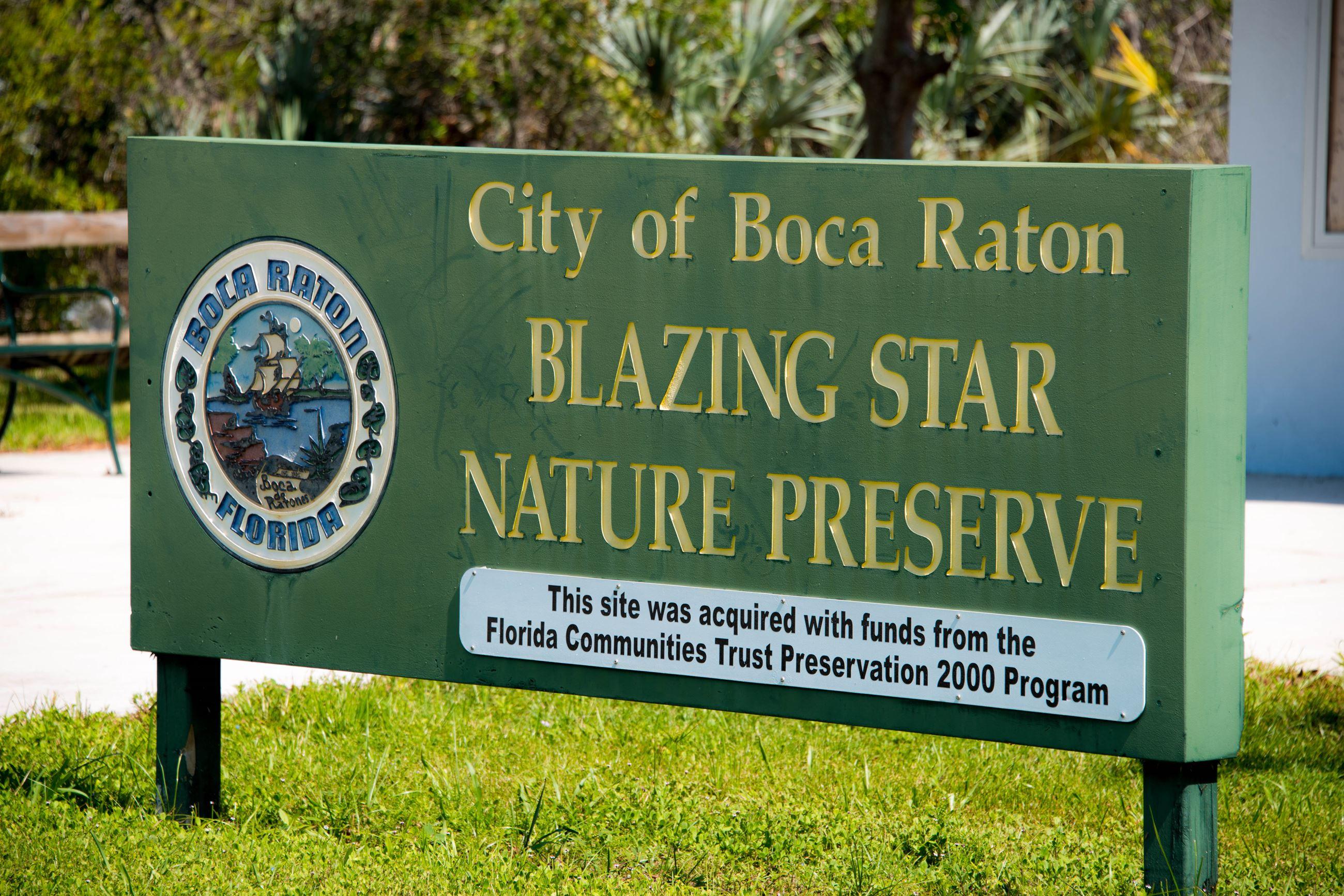 blazing star natural preserve entry