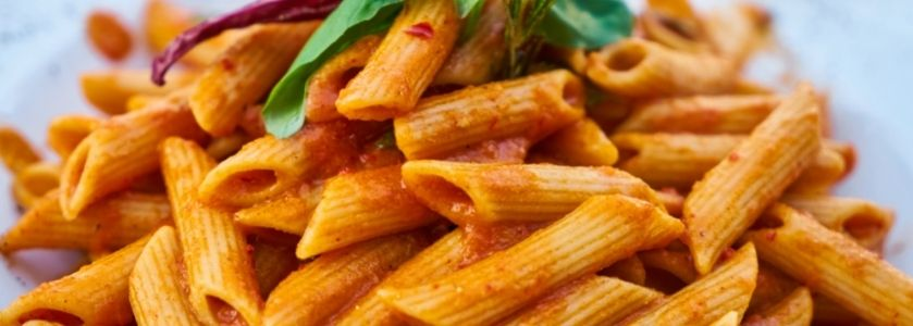 penne pasta with basil