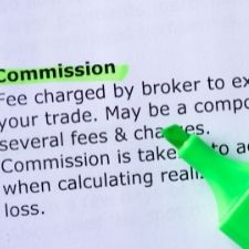 commission definition on paper under highlighter