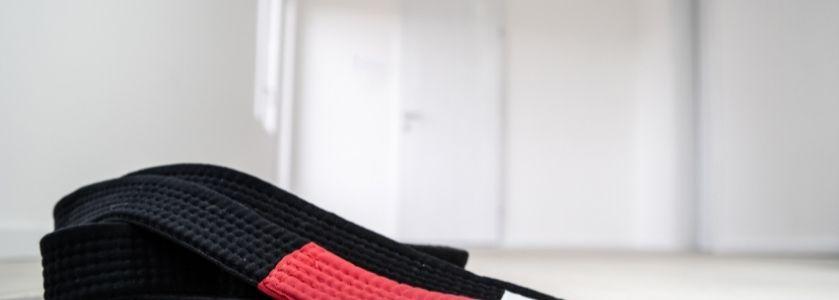 martial arts belt resting on mat