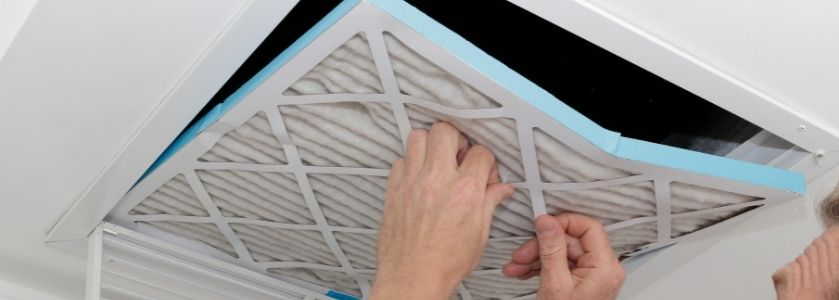 switching out hvac filter