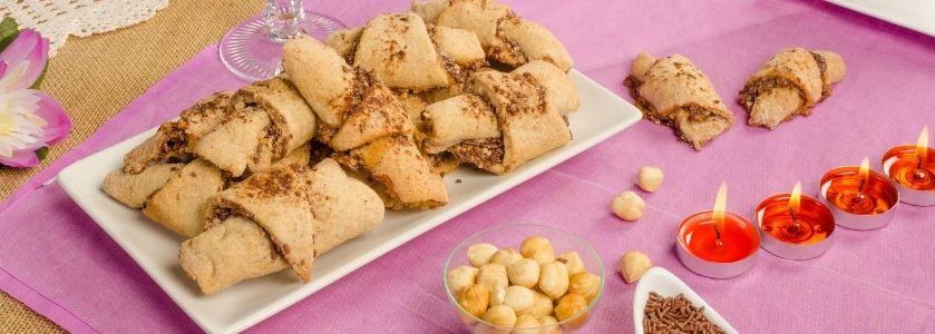 platter of homemade rugalach