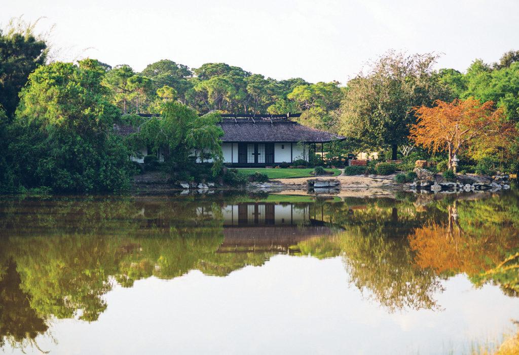 morikami japanese gardens | lake view