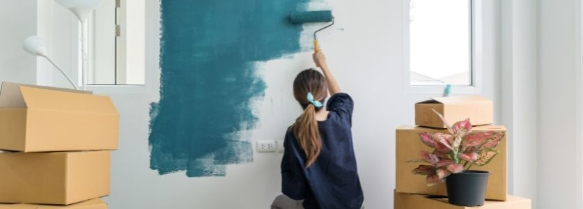 repainting interior walls