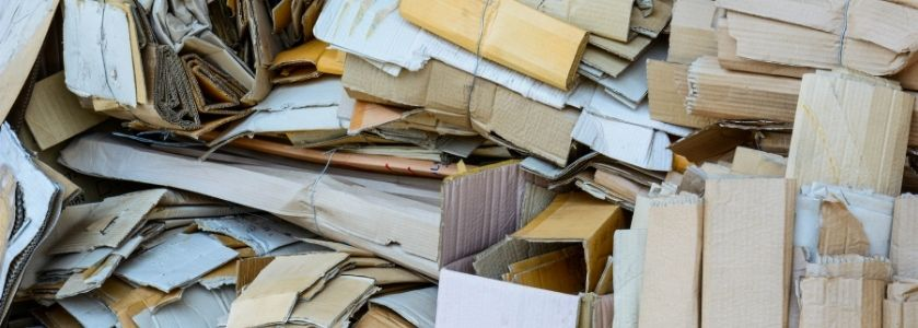 heaps of waste paper