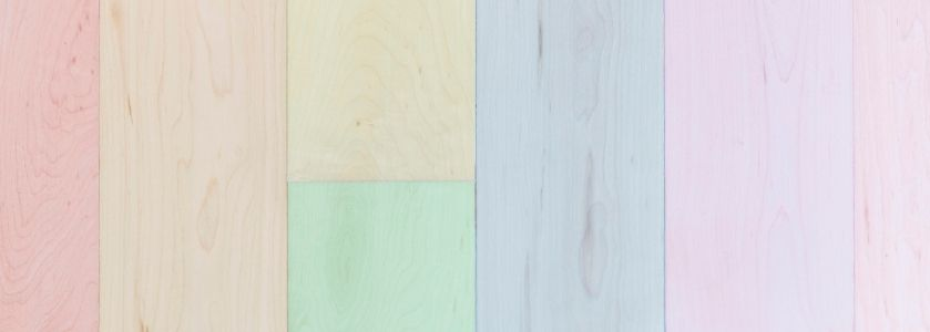 pastel colored wood panels