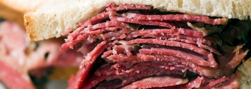 pastrami stacked sandwich