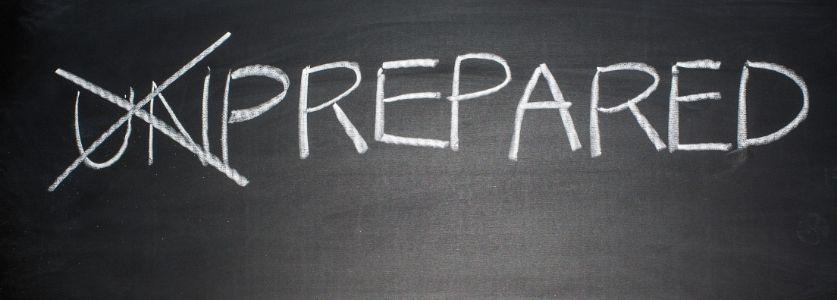 prepared written on blackboard