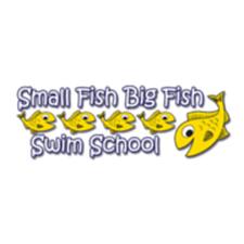 small fish big fish swim school logo