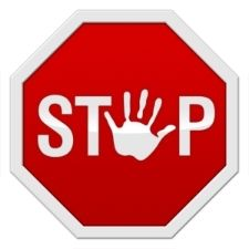 big red stop sign