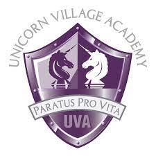 unicorn village academy shield logo