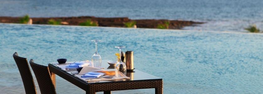 beautiful waterfront table setting