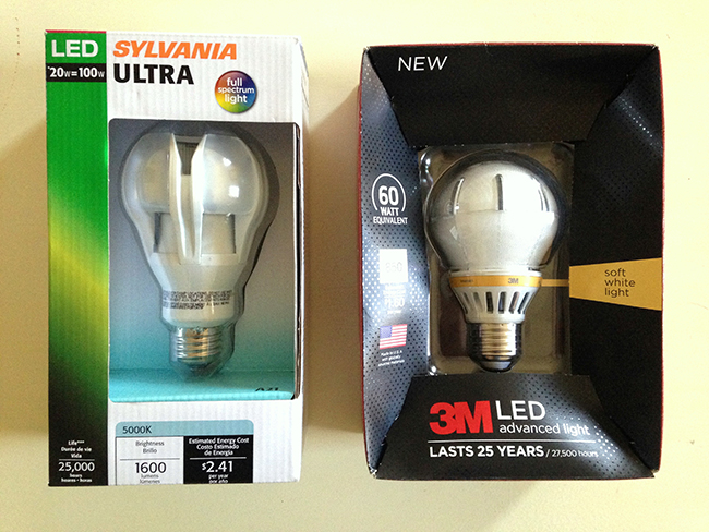 3M and Sylvania Energy Efficient Light Bulbs