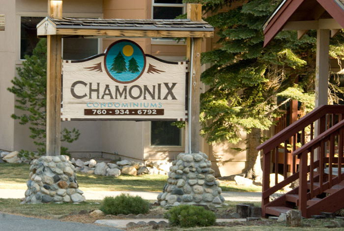Chamonix Condos Complex Sign