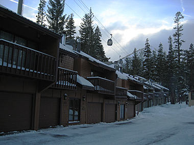 Courchevel Condos Exterior in Winter Snow