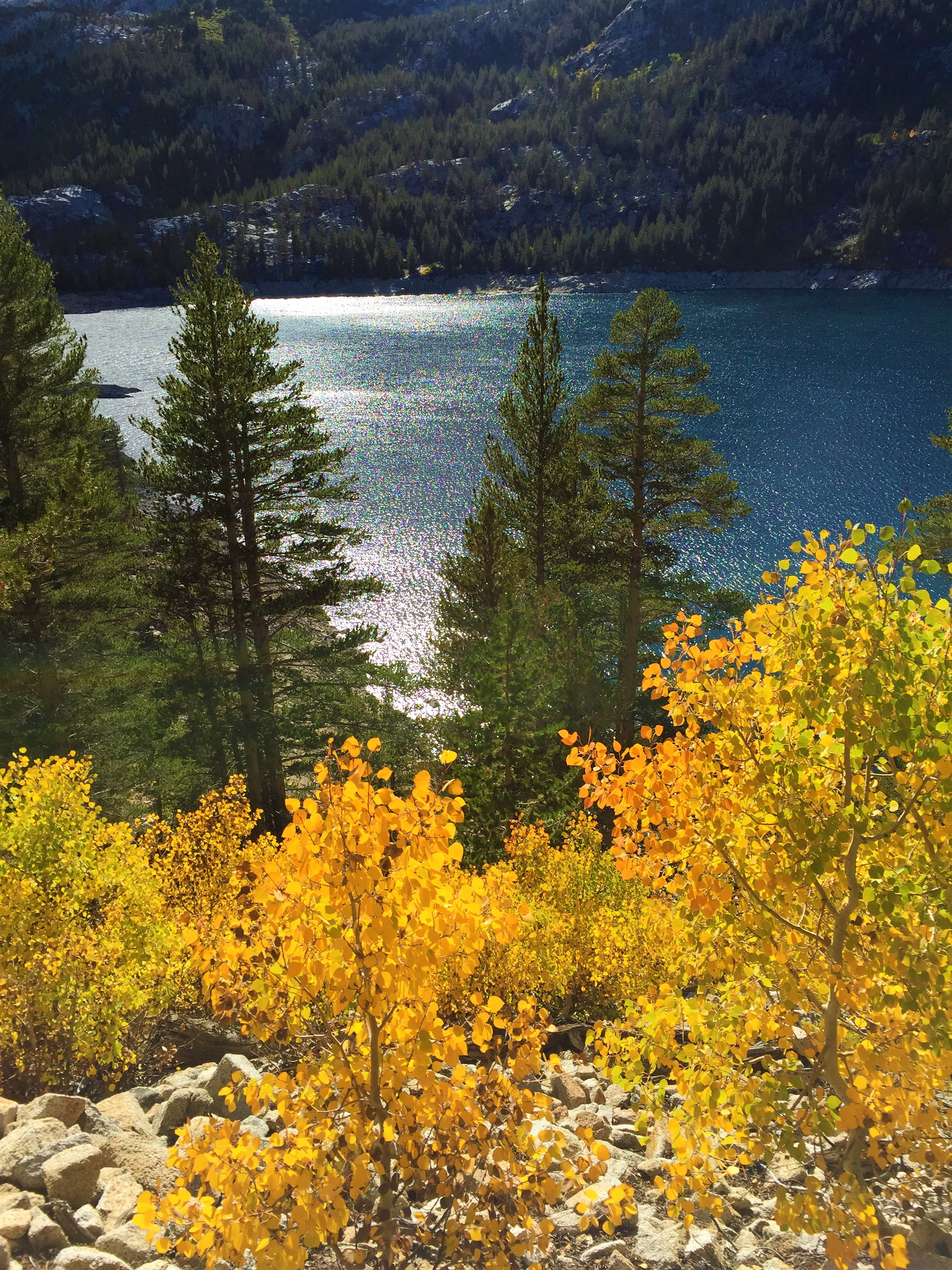 Fall Colors at Lake Sabrina out of Bishop
