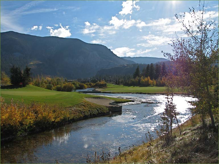 View of Snowcreek Golf Course with Sherwin Mountains in Background