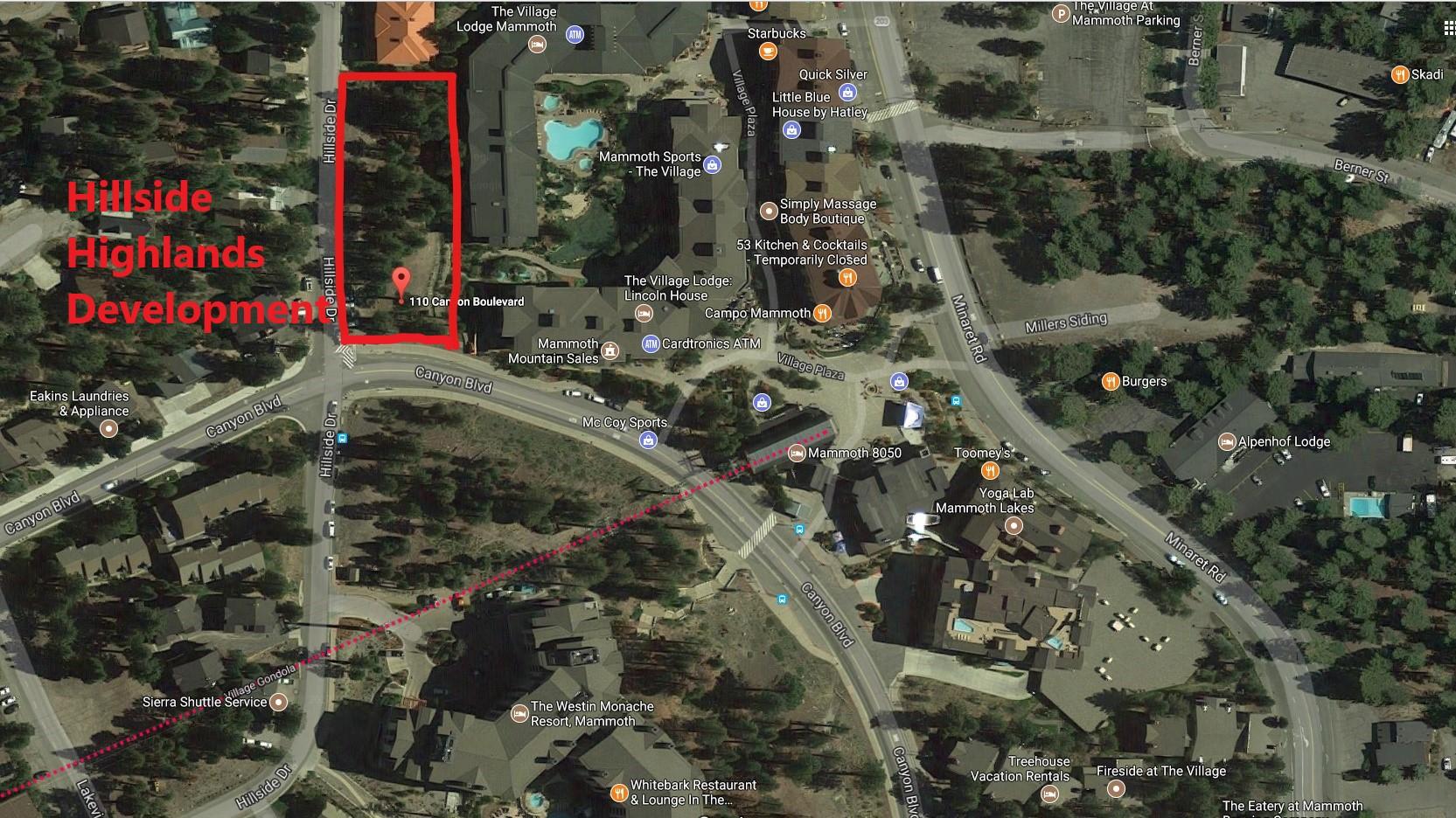 Aerial Photo of Hillside Highlands Development