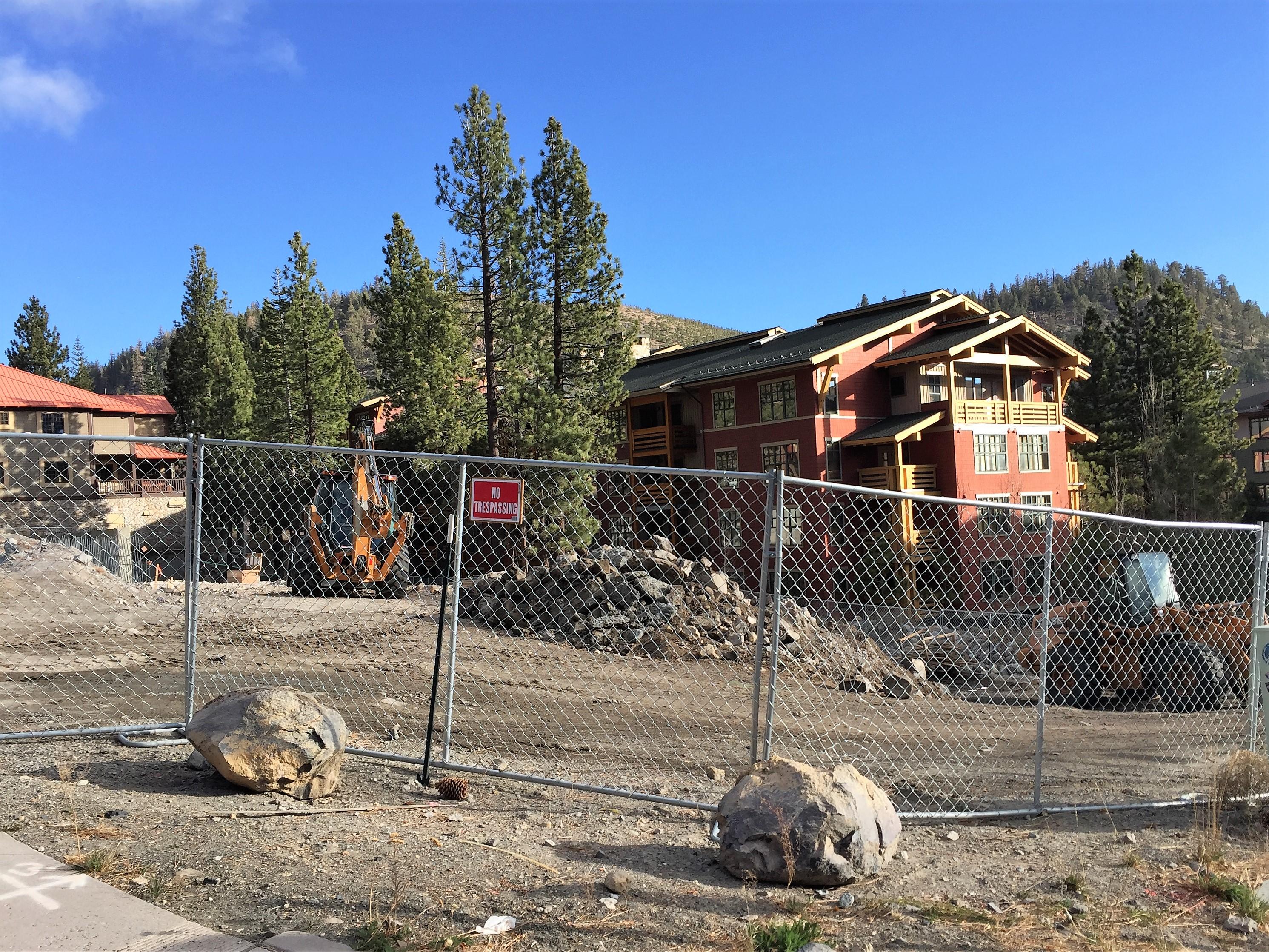 Hillside Highlands Construction Next to Village at Mammoth