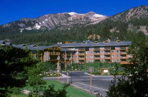 Juniper Springs Lodge Condos with Mammoth Mtn in Background