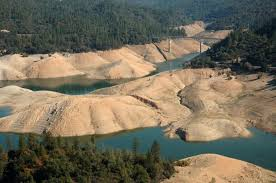 Lake Oroville Reservoir Main Water Source for Central California