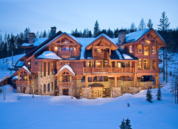 Luxury Mountain Home in Winter