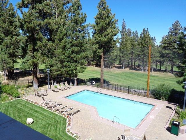 Mammoth Green views of pool from unit 215