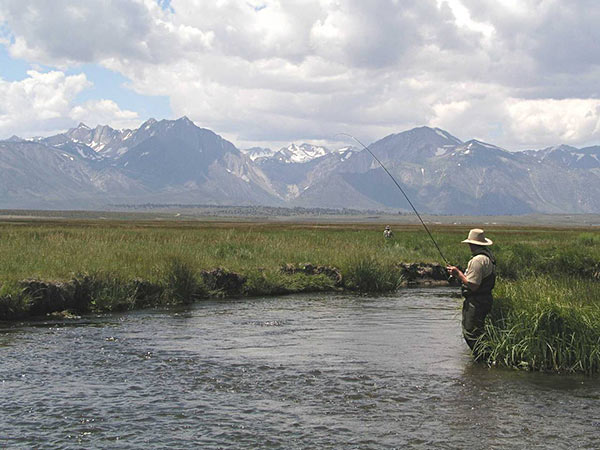 Fly fishing in the Mammoth Lakes area