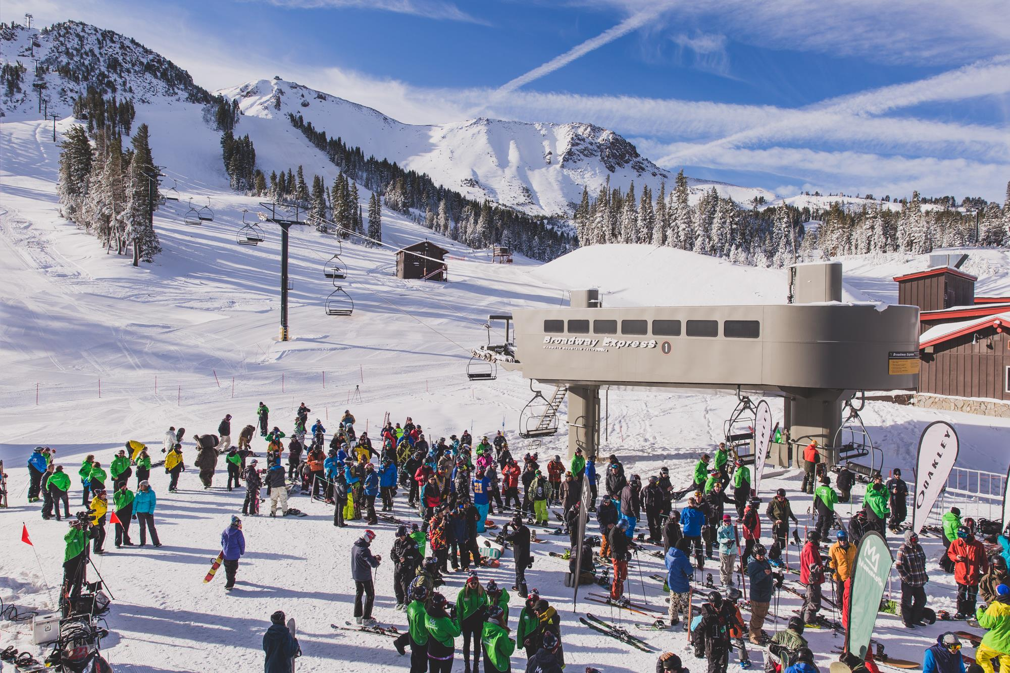 Mammoth Mountain Ski Season Opener in Previous Years with Powder Conditions