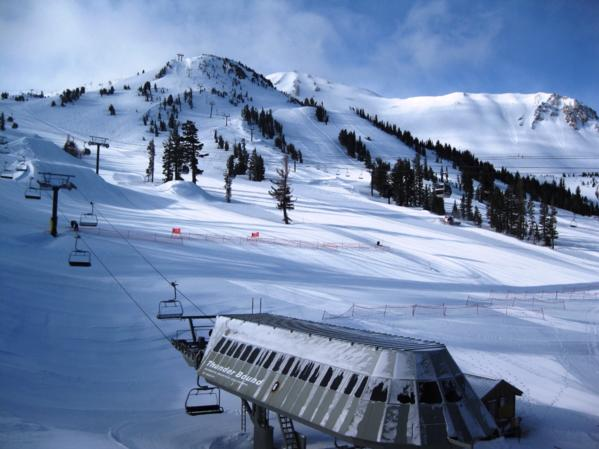 Mammoth Mountain Ski Area Covered in Snow