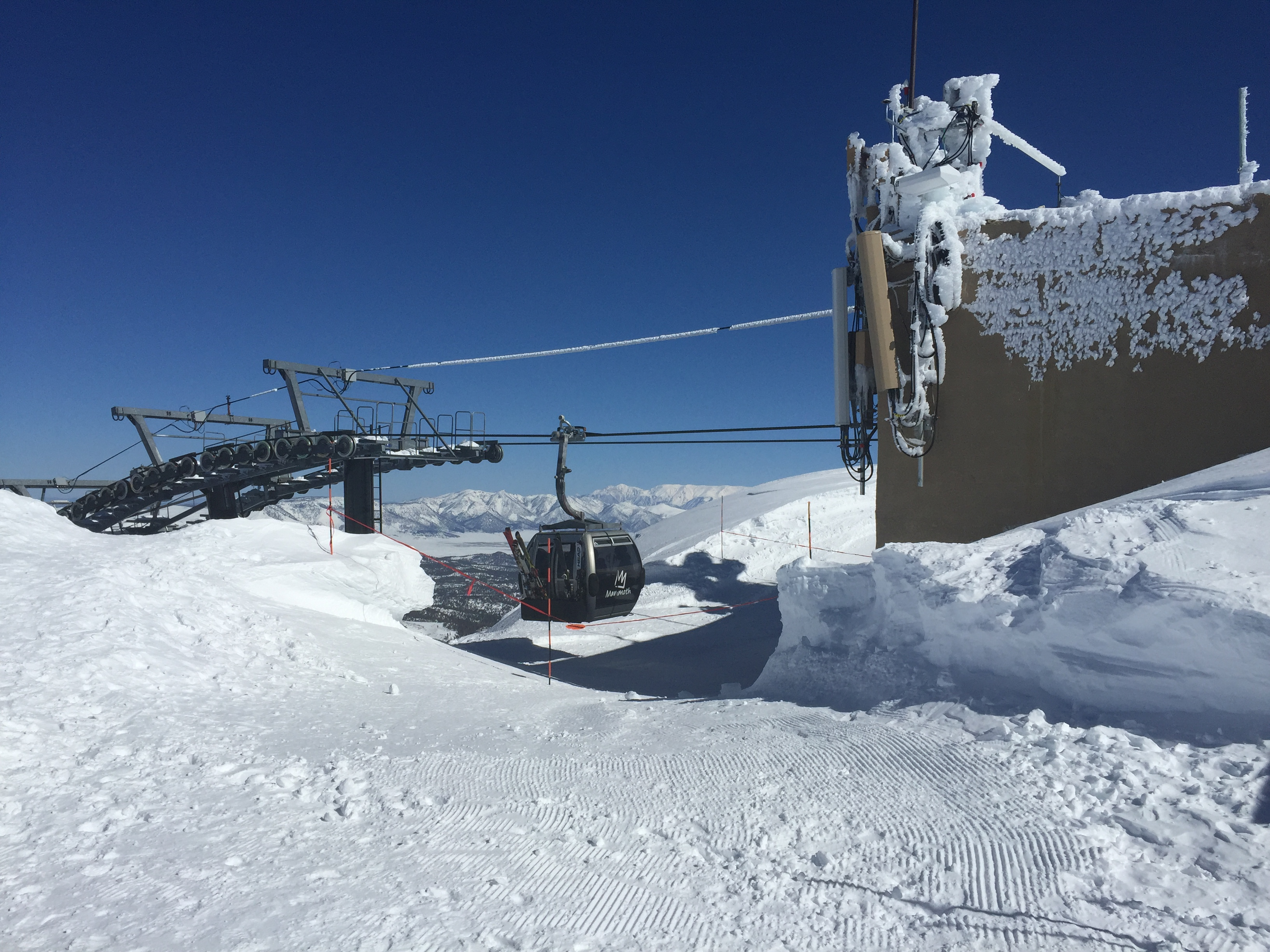 Top of Mammoth Mountain Ski Area on February 14, 2017