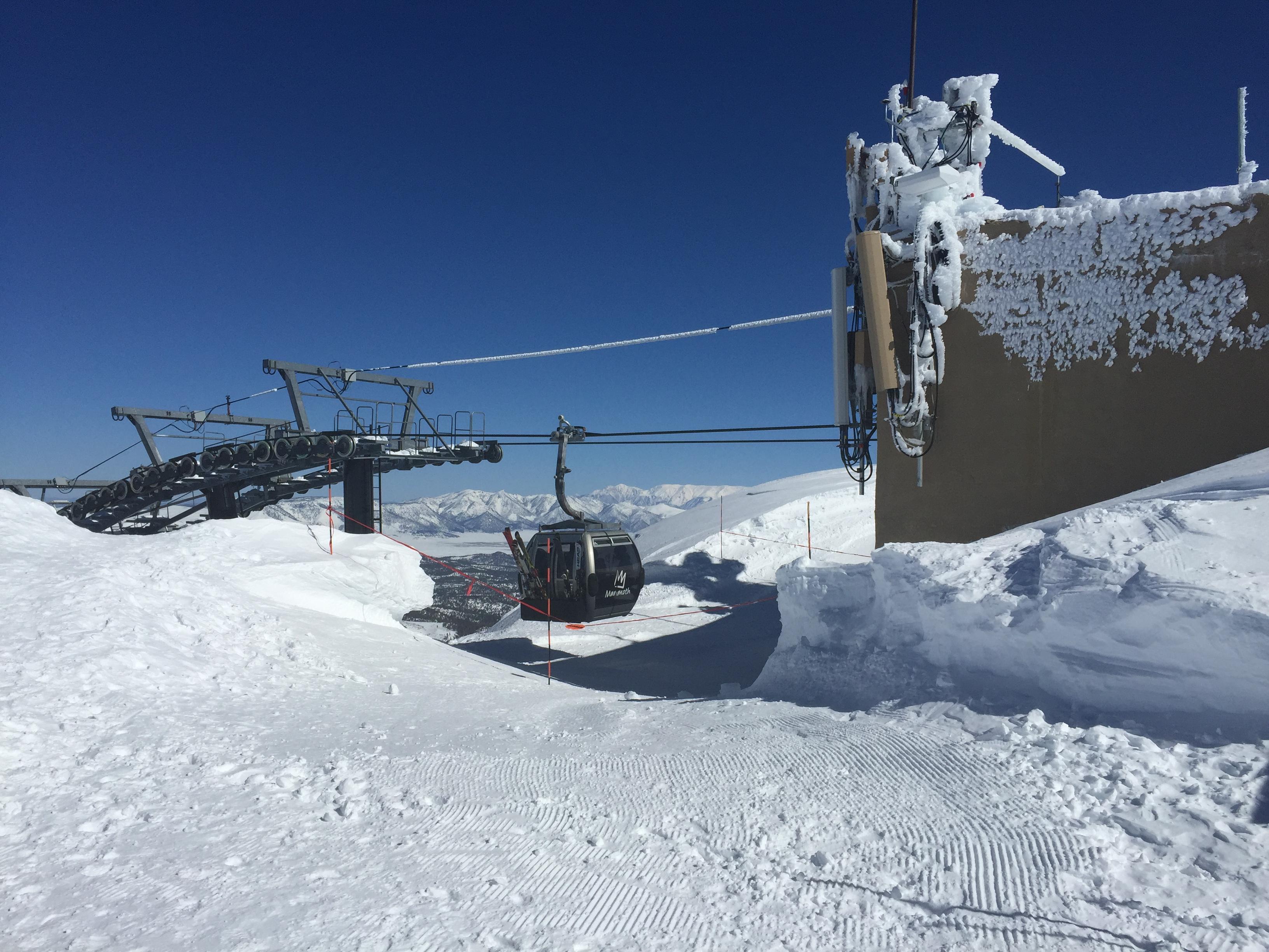 Top of Mammoth Mountain Ski Area on February 14, 2017