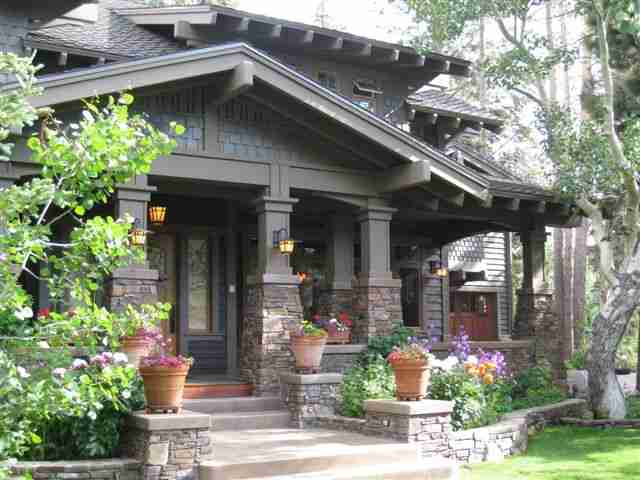 Snowcreek Ranch Craftsman Style Home in Summer