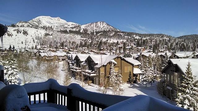 Views of Mammoth Mountain from Snowcreek V #919 Sold Condo