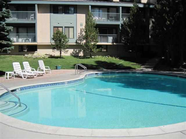 St. Anton Condos Swimming Pool in Summer