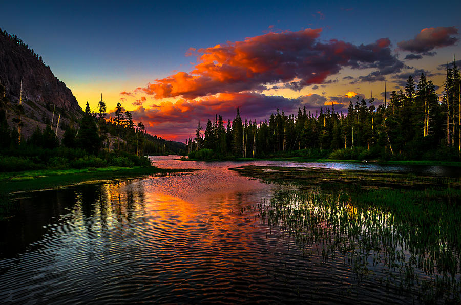 Summer Sunset Over Twin Lakes at Tamarack Lodge Mammoth Lakes
