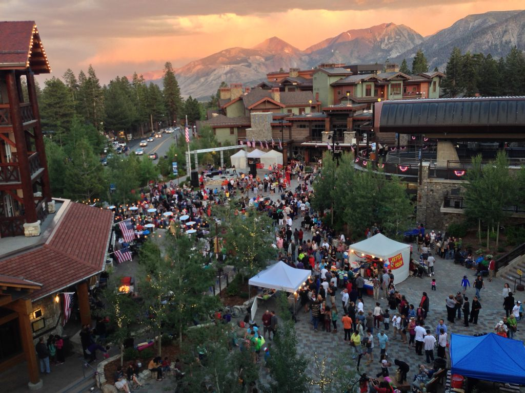 Village at Mammoth at Dusk During Summer Festival