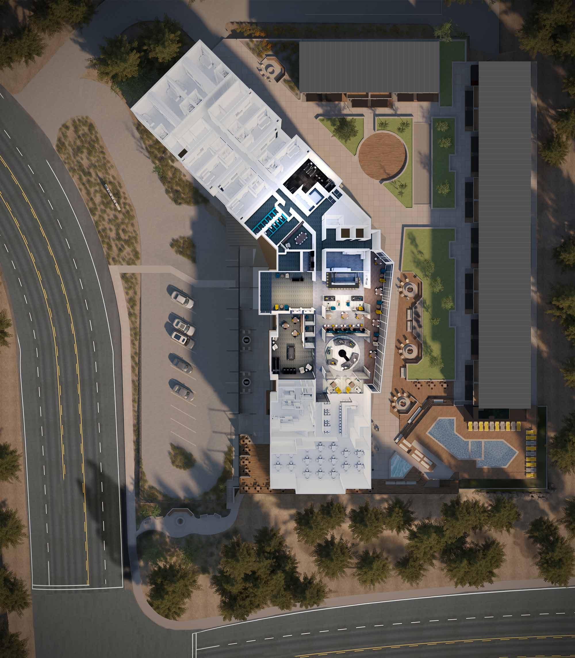 YotelPAD Mammoth Lakes Site Plan Rendering