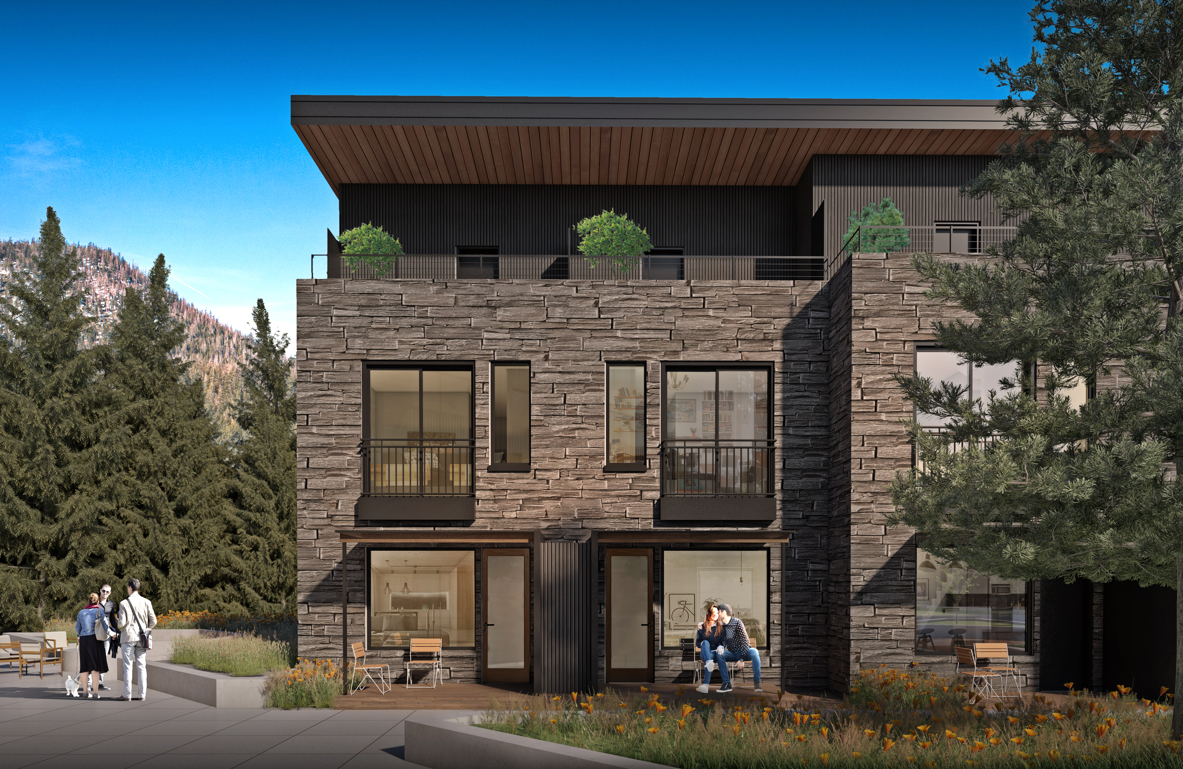 YotelPAD Mammoth Lakes Townhome Exterior Rendering